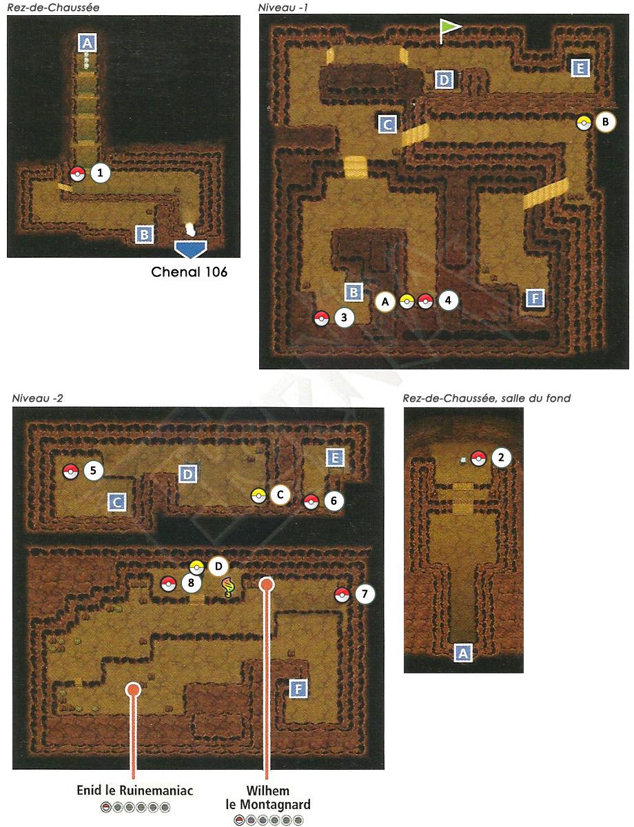 Guide des lieux hoenn grotte granite for Repousse amaryllis
